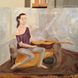 Lady with a guitar