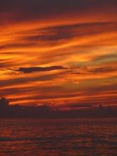 Amazing sunset orange