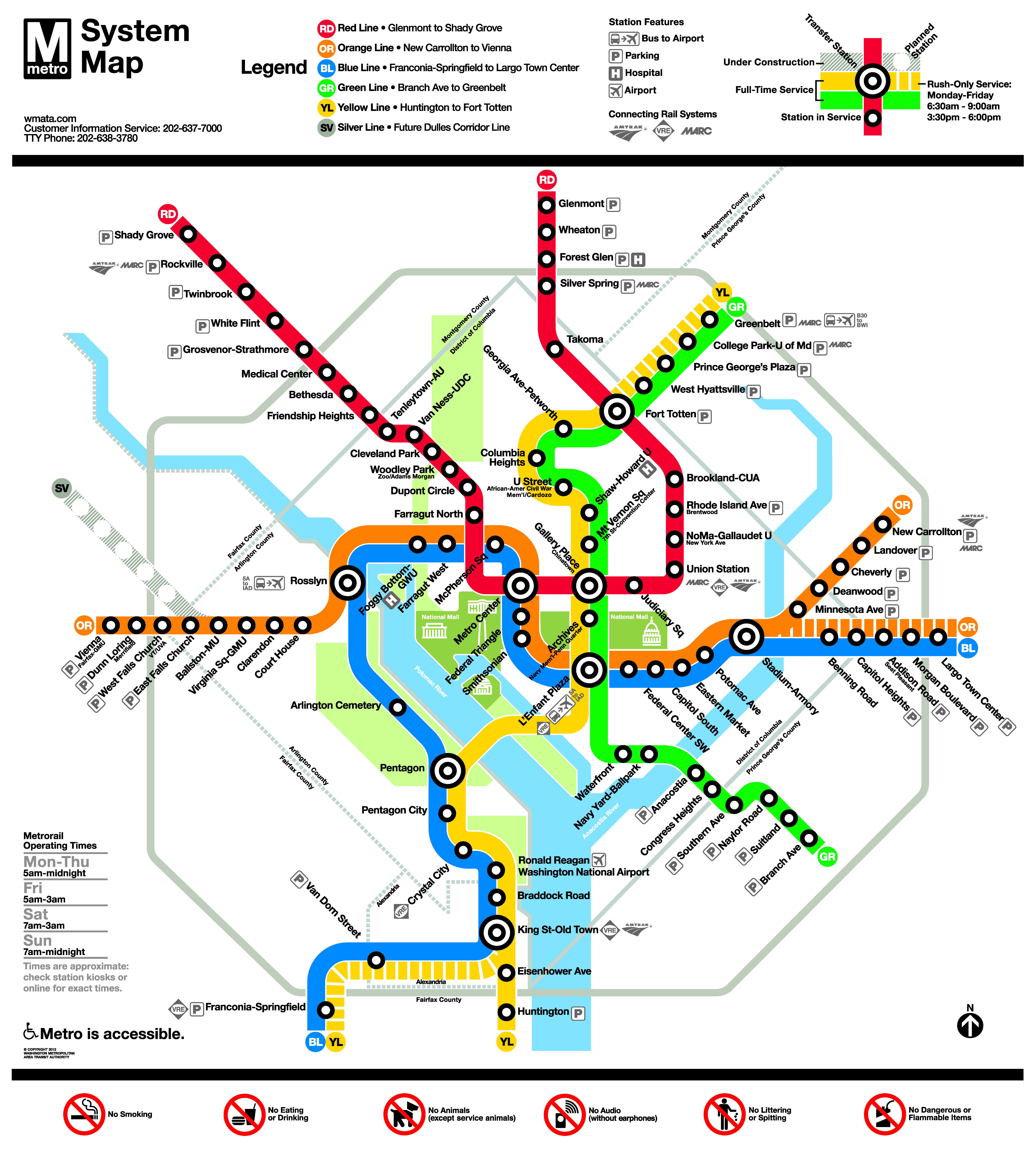 Subway Map Washington Dc Pdf