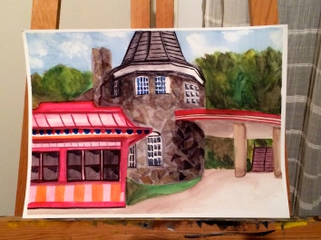 Plein air painting at Glen Echo. Painted all day Sunday.