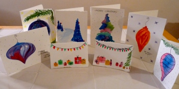 Most of the cards I made, excluding a couple Hanukkah ones. :)