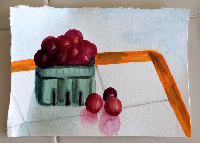 painting of plums